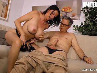 Unpaid EURO - Big Booty MILF Brunette Dacada Gives Oral And Takes Hubby's Cock Not susceptible A Hot Porn Alert