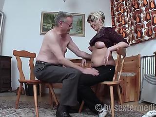 Old granddad bonks slay rub elbows with neighbour