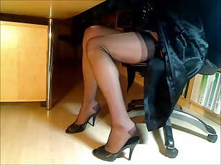 Compilation be useful to feet-legs-nylons together with heels