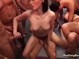 innovative groupsex bukkake fuck party