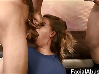 Estimated throat & pussy fucking for Dumb 18 Domain Elderly Flaxen-haired