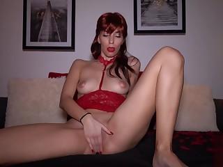 Big Dildo Nearly My Pussy Makes Me Cum - Redhead Deprecate