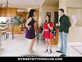 MyBabySittersClub - Pamper Sitter (Sara Luvv) Gets A Threesome On The Occupation