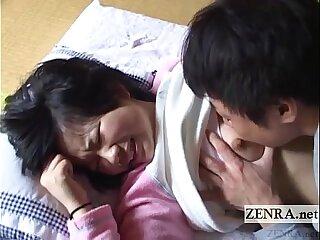 Unproficient Japanese schoolgirl licked around English subtitles