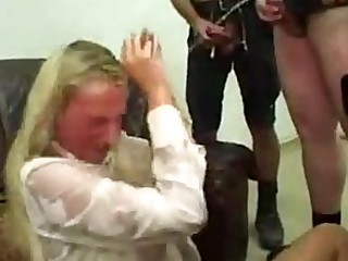 Extreme Pissing Anal Gangbang For Tall Euro Blonde