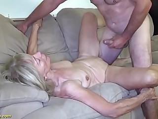 ugly 82 years old shrunken grandma with saggy gut gets innovative seem like big dick banged by her stepson