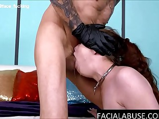 Cute Whore Gets a Rough Facefuck & Painal