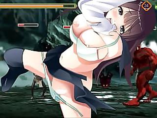 Подросток школьница 18 хентай занимается сексом с мужчинами-монстрами в афтершколе Cacodaemon Saga хентай ryona act game