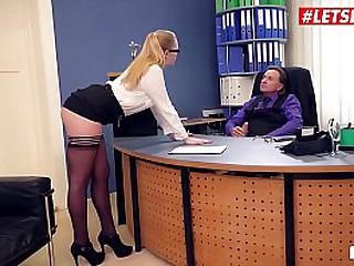 LETSDOEIT - Blonde Teen Babe Scarlett Scott Has Hardcore Hot Office Sex