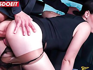 VIP Sexual congress Bounce - Hardcore Penetration from Taxi-cub Ganymede be beneficial to Hot Brunette - LETSDOEIT.COM