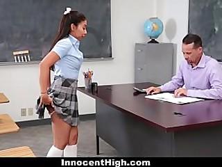 Innocent High - Hot Teen Coddle (JasmineSummers) Sucked Teacher's Load of shit